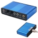 6 канална usb звукова карта, front, rear, cen/bassout, line-in spdif in, out, mic