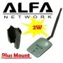 2 W/2000mW ALFA AWUS 036NH USB 802.11n с 5dBi антена WPA/WPA2