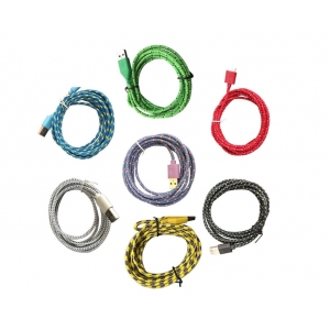 iPhone 5, 5s, 6, 6s кабели с текстилна оплетка за смарт телефони и др.