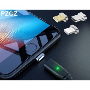 USB зареждащ кабел с магнитен накрайник за MicroUSB, Type-C, Iphone