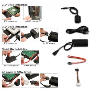 USB преходник към IDE SATA S-SATA 2.5; 3.5 инча устройства